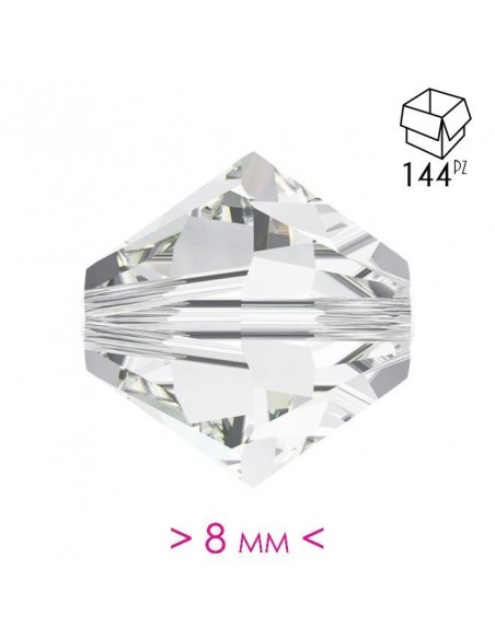 Bicono in Cristallo mm 8 Crystal - 144PZ