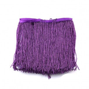 Fringes sewing bugles Amethyst