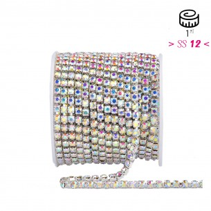 Catena Strass ss 12  Crystal AB-Silver - 1MT