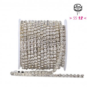 Catena Strass ss 12  Crystal-Silver - 1MT