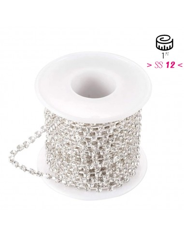 Chain Strass Spaced ss 12 (3.20 mm)...
