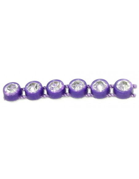 Bordura Strass su Filo ss 13 (mm 3,30) Purple-Crystal - 1MT
