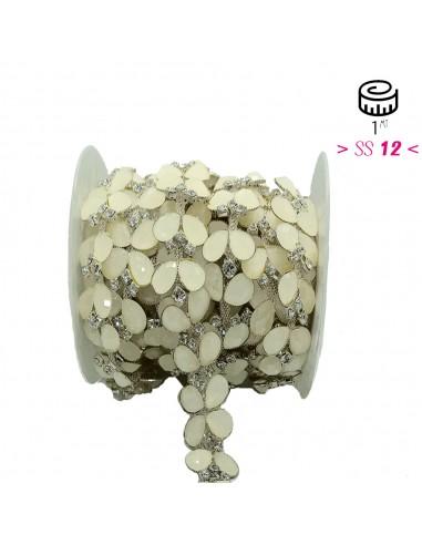 Jewel Strass Chain cm 2,5  Crystal-...