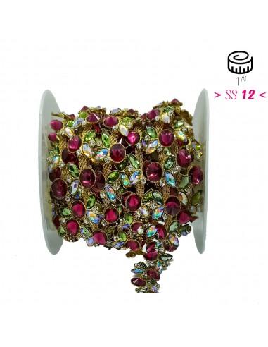Jewel Strass Chain cm 1,6 Crystal...