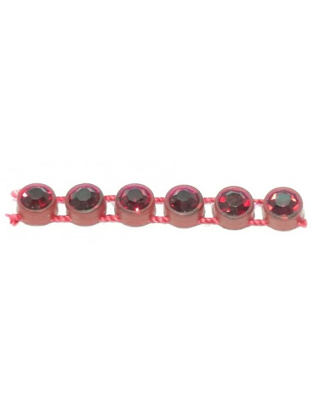 Bordura Strass su Filo ss 13 (mm 3,30) Red-Siam - 1MT