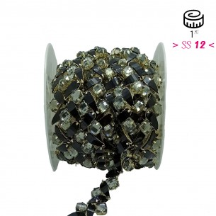 Catena Strass Gioiello  Crystal-Pietra3/K938-Silver - 1MT