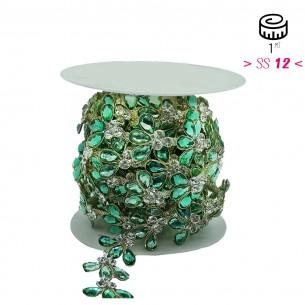 Catena Strass Gioiello Crystal-Pietra32/36-Silver - 1MT