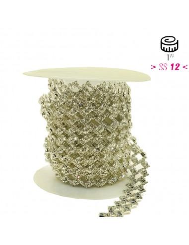 Jewel Rhinestone Chain Rectangle  cm...