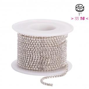 Catena Strass ss 16 PIENA Crystal-Silver - 1MT