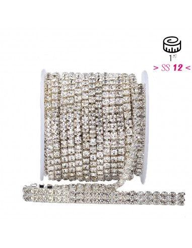 Strass chain ss 12 with 2 wires...