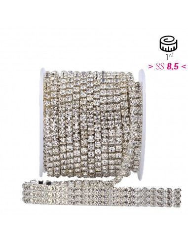 Strass chain ss 8.5  3 WIRES...