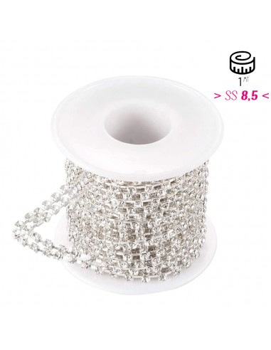 Distant Strass Chain  ss 8.5 2 WIRES...