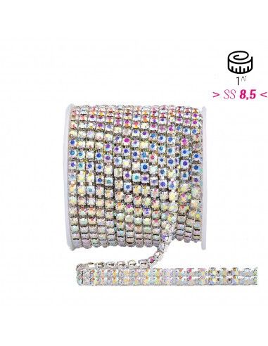 Strass chain ss 8.5 2 WIRE Crystal...