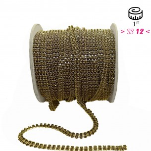 Strass chain ss 12 with 2...