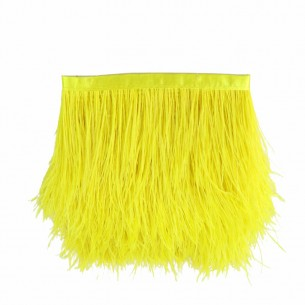 Fringe Sewing Citrine Ostrich Feathers  Pack - 1MT.
