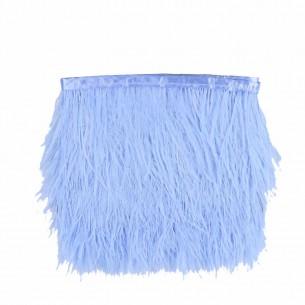 Fringe Sewing Aqua Ostrich Feathers  Pack - 1MT.
