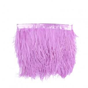 Frangia da cucire Piume di Struzzo Violet pacco - 1MT.