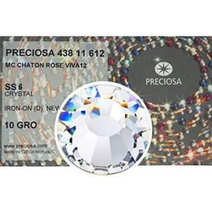 Strass Rhinestones Preciosa Termoadesivo Hotfix  ss 6  Crystal  - 1440 PZ