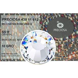 Strass Rhinestones Preciosa Termoadesivo Hotfix ss 12 Crystal - 1440 PZ