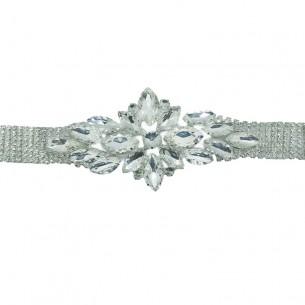 Applicazione Strass  Crystal-Pietre-Silver - 1PZ