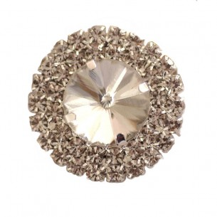 Pietra Rotonda cm 4,00 Crystal-Silver - 1PZ