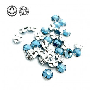 Rosetta GT Crystal ss 12 (mm 3,2) Aqua-Silver - 48PZ