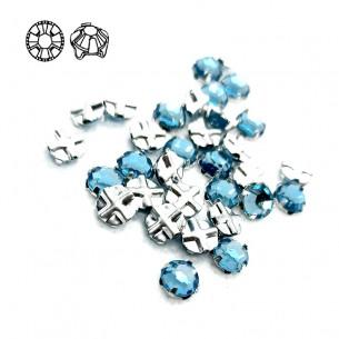 Rosetta GT Crystal ss 20 (mm 4,8) Aqua-Silver - 48PZ