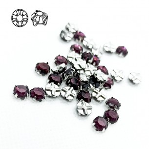 Rosetta GT Crystal ss 30 (mm 6,5) Amethyst-Silver - 24PZ