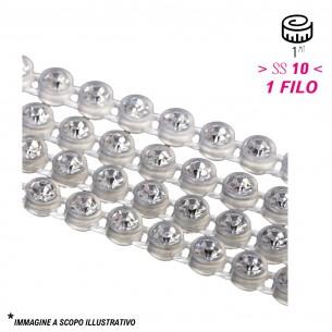 Bordura Strass 1 Filo ss 10 (mm 2,80) Trasparent-Crystal - 1MT
