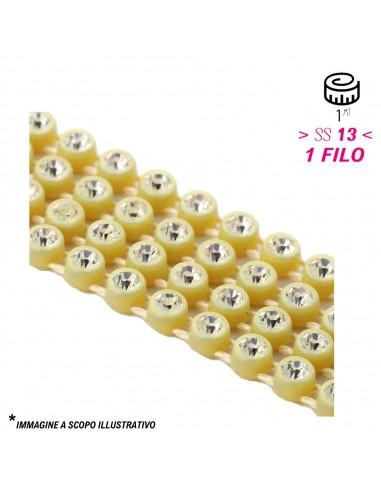 Bordura Strass 1 Filo ss 13 (mm 3,30) Gold-Crystal - 1MT