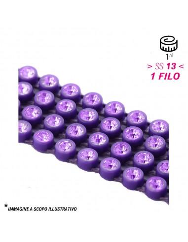Bordura Strass 1 Filo ss 13 (mm 3,30) Purple-Lt. Amethyst - 1MT