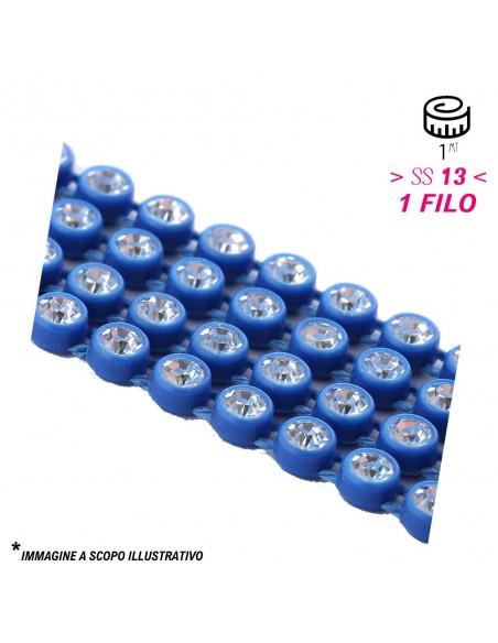 Bordura Strass 1 Filo ss 13 (mm 3,30) Royal Blu-Crystal - 1MT