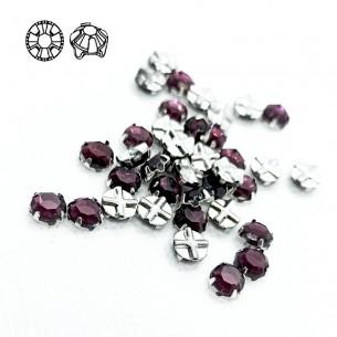 Rosetta GT Crystal ss 20 (mm 4,8) Amethyst-Silver - 48PZ