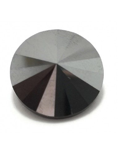 Bottone Swarovski mm 16 Hematite - 1PZ