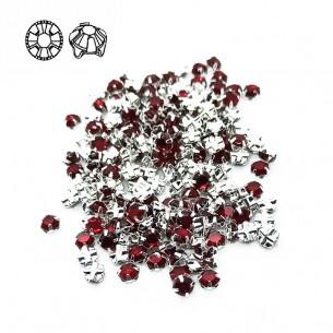 Rosetta GT Crystal ss 20 (mm 4,8) Siam-Silver - 48PZ