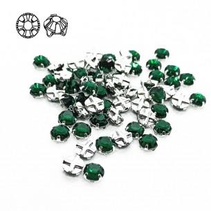 Rosetta GT Crystal ss 30 (mm 6,5) Emerald-Silver - 24PZ