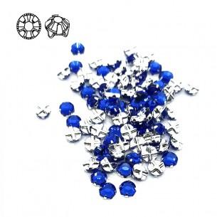 Rosetta GT Crystal ss 20 (mm 4,8) Sapphire-Silver - 48PZ