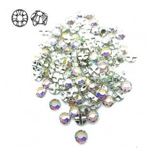 Rosetta GT Crystal ss 20 (mm 4,8) Crystal AB-Silver - 48PZ