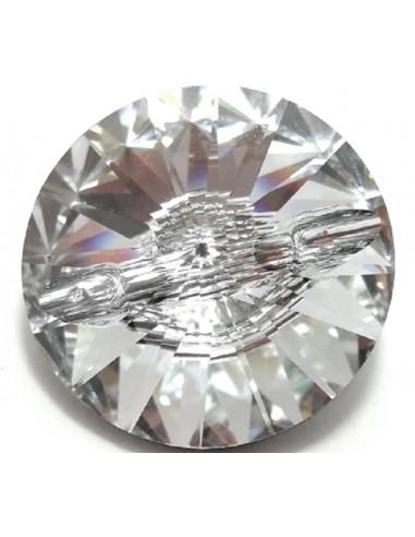 Bottone Swarovski mm 18 Crystal -...