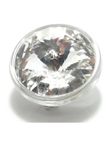 Bottone Swarovski mm 20 Crystal - 1PZ