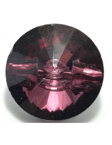 Bottone in Vetro mm 10 Bordeaux - 1PZ