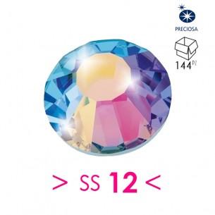 Strass Rhinestones Preciosa Termoadesivo  Hotfix ss 12 crystal ab - 144PZ