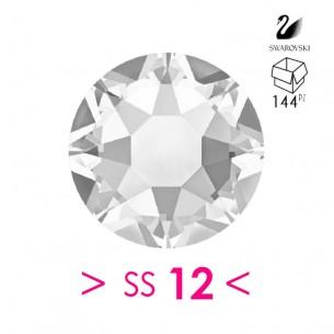 Strass Rhinestones Swarovski XIRIUS Rose ss 12 Crystal - 144PZ Hotfix