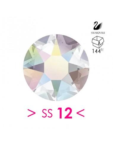 Strass Rhinestones Swarovski XIRIUS Rose ss 12  Crystal AB Hotfix - 144PZ