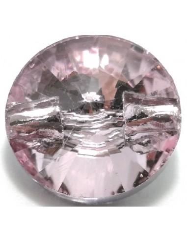 Glass Button 10 mm Light Rose - 1PC