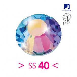 Strass Rhinestones GT Crystal Termoadesivo Hotfix ss 40  Crystal AB - 144PZ