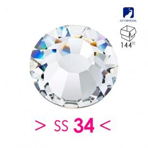 Rhinestones Strass GT Crystal Termoadesivo ss 34  Crystal - 144PZ Hotfix
