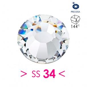 Rhinestones Strass Preciosa Termoadesivo ss 34  Crystal - 144PZ Hotfix