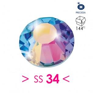 Rhinestones Strass Preciosa Termoadesivo ss 34  Crystal AB - 144PZ Hotfix