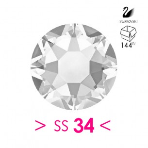 Rhinestones Strass Swarovski XIRIUS Rose ss 34 Crystal - 144PZ Hotfix